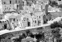 Vue de Matera Photos stock
