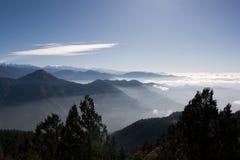 Vue de matin au Népal Photographie stock