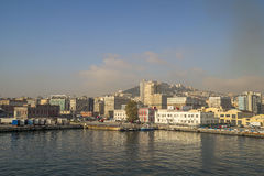 Vue de matin de port de Naples Photo stock