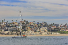 Vue de matin du rivage près de Manhattan Beach et de Redondo Beach Photos libres de droits