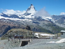 Vue de Matterhorn photographie stock libre de droits