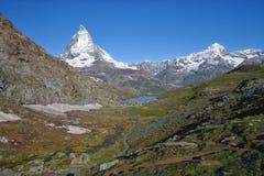 Vue de Matterhorn au jour ensoleillé Image stock