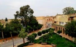 Vue de Meknez la Médina du restaurant local près de Prison de Kara images libres de droits