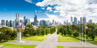 Vue de Melbourne CBD photo libre de droits