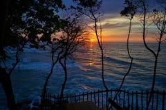 Vue de mer au crépuscule Images libres de droits