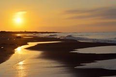 Vue de mer au crépuscule Image libre de droits