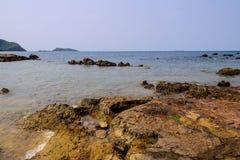 Vue de mer avec le ciel Photo libre de droits