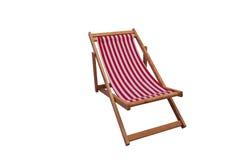 Vue de mer avec un siège en bois Image stock
