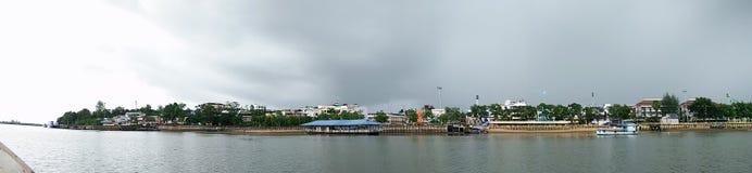 Vue de mer chez au sud de la Thaïlande Photo stock