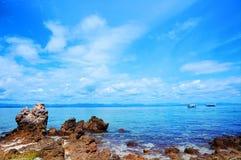 Vue de mer d'île Photo stock