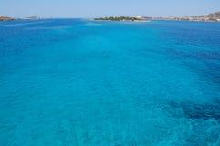 Vue de mer d'île de Paros Image libre de droits
