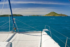 Vue de mer de catamaran Photographie stock libre de droits