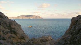 Vue de mer de la Mer Noire Cap Meganom crimea clips vidéos
