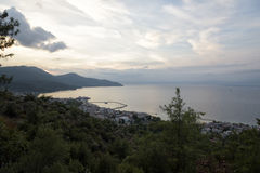 Vue de mer de la montagne Photo stock