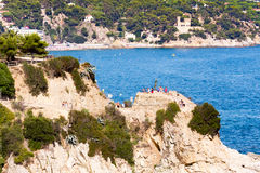 Vue de mer de Lloret de Mar Photo stock