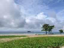 Vue de mer de paysage Photos stock