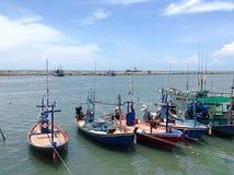 Vue de mer de port Images libres de droits