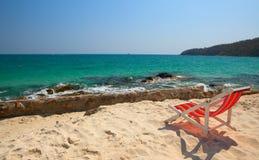 vue de mer de relaxation Photographie stock