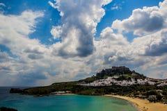 Vue de mer de Rhodes Images libres de droits