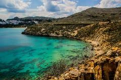 Vue de mer de Rhodes Photo libre de droits