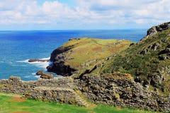 Vue de mer de Tintagel Image libre de droits