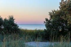 Vue de mer des buissons Photo libre de droits