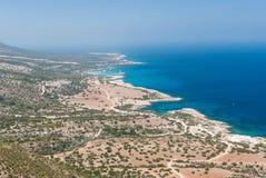 Vue de mer du haut d'une montagne Photographie stock libre de droits