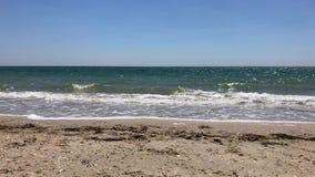 Vue de mer du rivage, la Mer Noire banque de vidéos