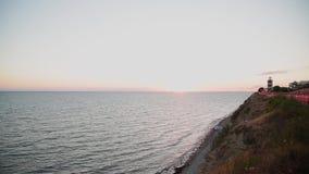 Vue de mer du rivage le soir clips vidéos