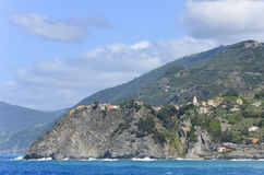 Vue de mer en Cinque Terre, Italie Photos libres de droits