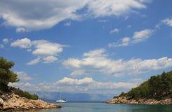 Vue de mer et de ciel. Image libre de droits