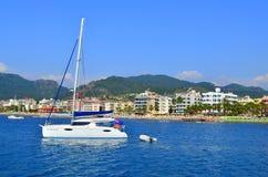 Vue de mer Marmaris La Turquie Photographie stock