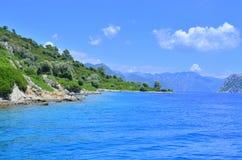 Vue de mer Marmaris La Turquie Photos stock