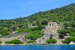 Vue de mer Mer Égée La Turquie Photo stock