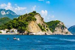 Vue de mer près de Petrovac Photos stock