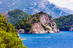 Vue de mer près de Petrovac Image libre de droits
