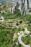 Vue de Meteora Photo libre de droits