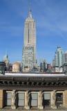 Vue de Midtown de New York City Manhattan avec l'Empire State Building, NYC Photos stock