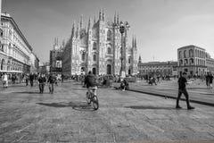 Vue de Milan Cathedral Duomo di Milano célèbre, dans la place de Duomo, l'Italie images libres de droits