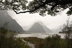 Vue de Milford Sound Image libre de droits