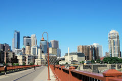 Vue de Minneapolis Photo libre de droits