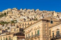 Vue de Modica, Italie Images stock