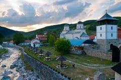 Vue de monastère de Mileseva Image libre de droits