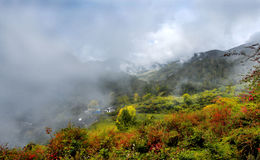 Vue de montagne de Niubeishan, Sichuan Image stock