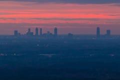 Vue de montagne de pierre de fron d'Atlanta de Midtown, la Géorgie, Etats-Unis image stock