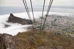 Vue de montagne de table sur Capetown Photo libre de droits