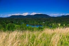 Vue de montagne et de vallée dans le comté de Saratoga NY Images libres de droits