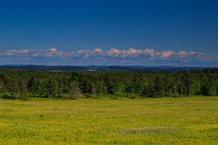 Vue de montagne et de vallée dans le comté de Saratoga NY Photo libre de droits