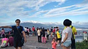 Vue de montagne et de rivière de gars durs de crête de Guanyin belle, Taiwa Images libres de droits