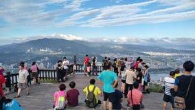 Vue de montagne et de rivière de gars durs de crête de Guanyin belle, Taiwa Image stock